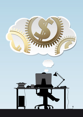 making money: Creative idea - making money concept - Investment Process