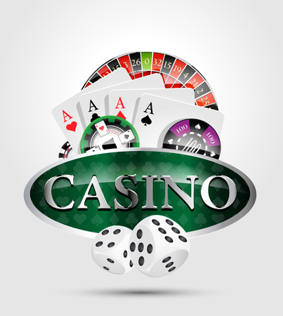 casino chips: Casino poker winner Illustration