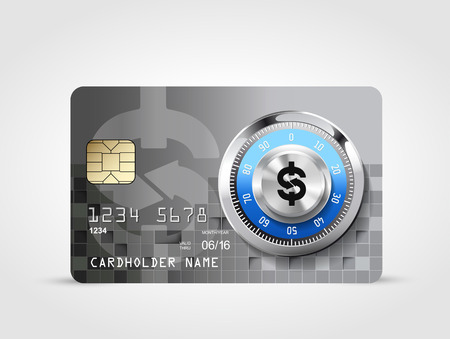 fare: Dollar sign - credit card concept Illustration