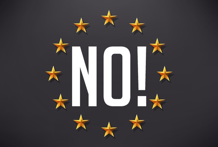 article icon: Say no to terrorism - European flag Illustration