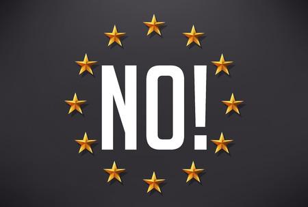 Say no to terrorism - European flag Illustration
