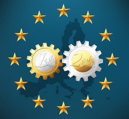 european: One and two Euros working together