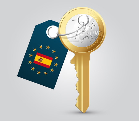 Euro key as money concept
