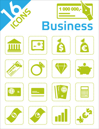 savings account: Business icons