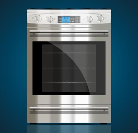 キッチンのガスコンロ  イラスト・ベクター素材
