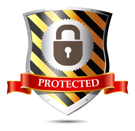 security lock: Internet security - lock