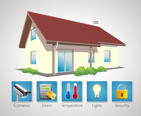 office automation: Home Automation Illustration