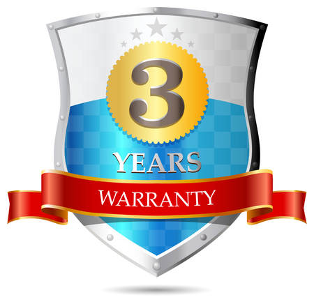warrants: Warranty - three years