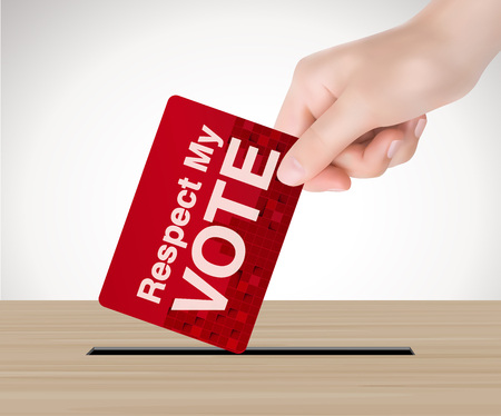 vote: Respect my vote - election concept Illustration