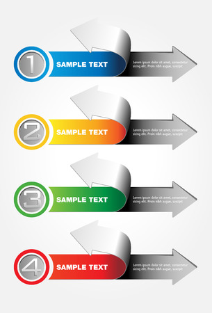 consecutive: Arrows concept - info graphic - steps forward Illustration