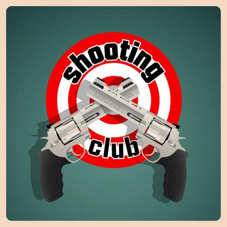 exterminate: Revolver - shooting club logo