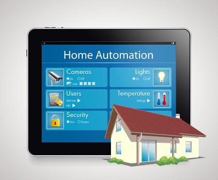 ホーム ・ オートメーション ・ スマート セキュリティと自動化されたシステム