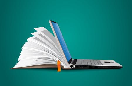 concept: IT Comunicazione - base di conoscenza, l'e-learning Vettoriali