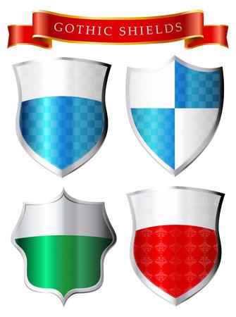 conservancy: Labels - Gothic shields
