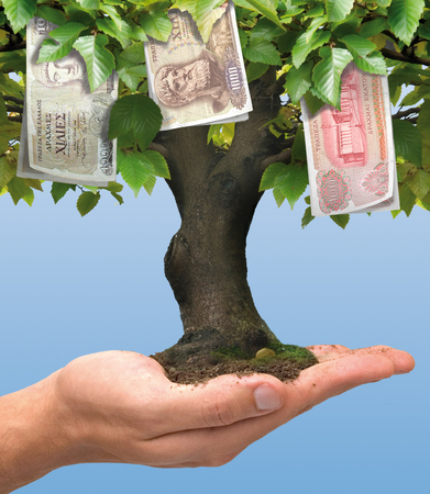 economize: Money tree - Greek crisis - the drachma