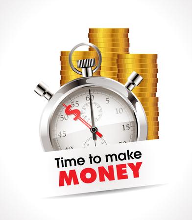 symbols metaphors: Stopwatch - Time to make money
