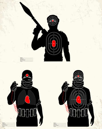 targets: Terrorist - shooting range target Illustration