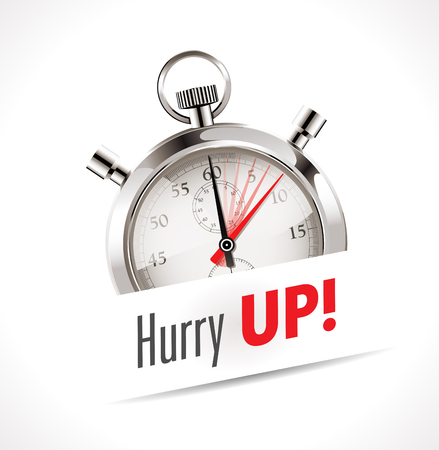 countdown clock: Stopwatch - Hurry Up Illustration
