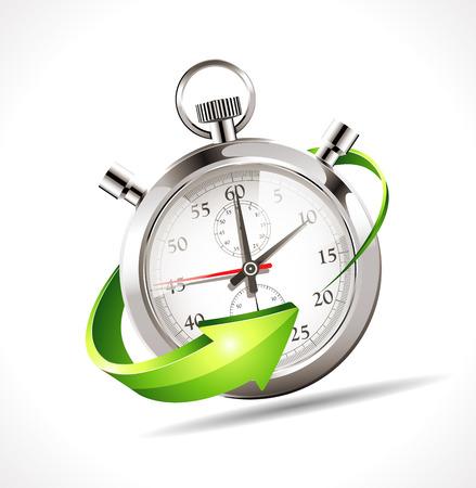 Stoper - przyspieszyć czas Ilustracje wektorowe