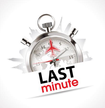 reloj: Cron�metro - �ltima Hora - viajes y turismo concepto Vectores