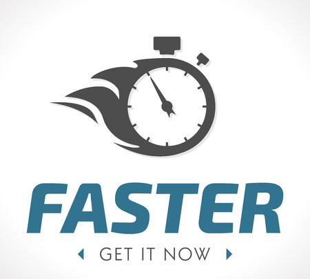 countdown clock: Faster logo Illustration