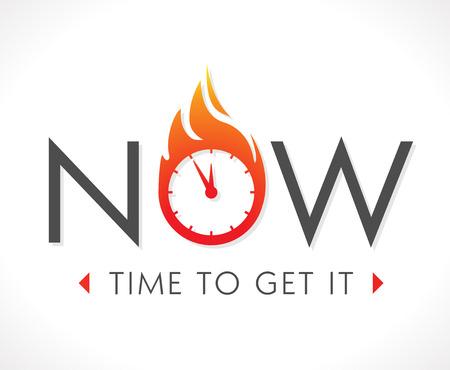 Logo - Le temps est maintenant Banque d'images - 48538121