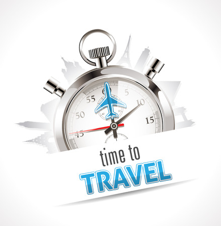 airplane: Stopwatch - Time to travel Illustration