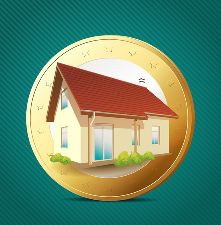 borrowing money: Money concept - Own House
