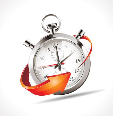 Stoper - cofnąć czas Ilustracje wektorowe