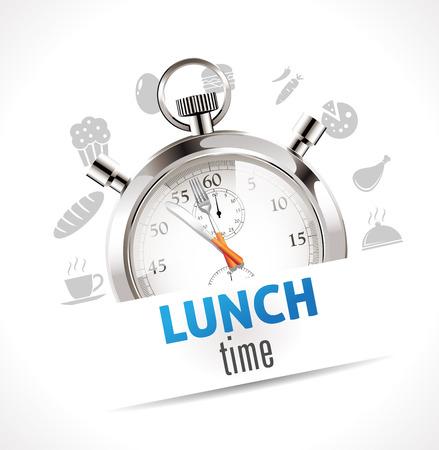 Stoppuhr - Mittagszeit Illustration