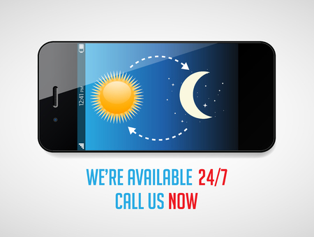 day and night: All day and all night service available