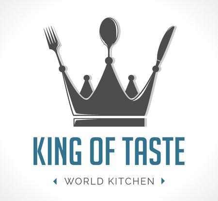logo de comida: Logo - rey de sabor Vectores
