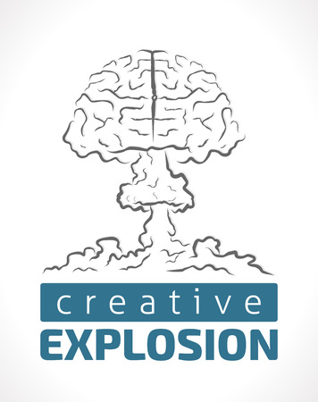 nuclear explosion: Explosion of creativity - human brain as nuclear explosion