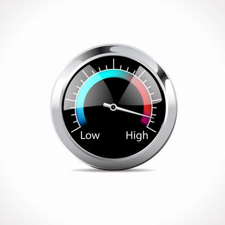 accelerating: Speedometer - Speed Up! Illustration