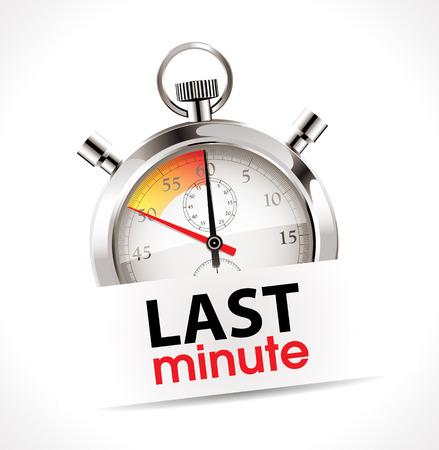 last minute: Last minute concept - stopwatch Illustration