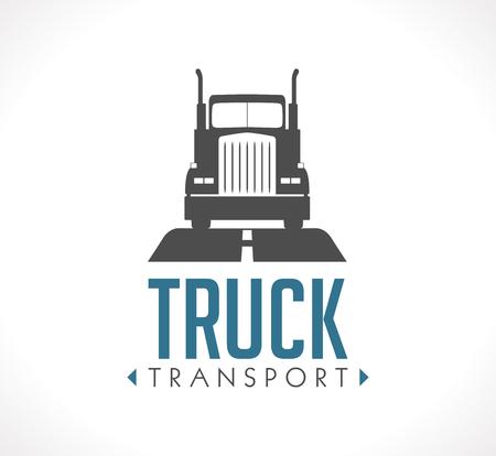 Logo - Truck transportation  イラスト・ベクター素材