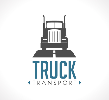 commercial sign: Logo - Truck transportation Illustration