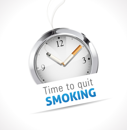 quit smoking: Time to quit smoking Illustration