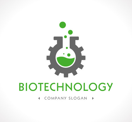 beaker: Logo - Biotecnología Vectores