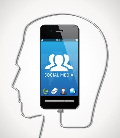 twitter: Cellphone - social media concept