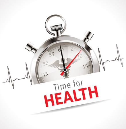 salubrious: Stopwatch - Time for health care concept