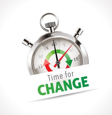ストップウォッチ - 変更のための時間  イラスト・ベクター素材