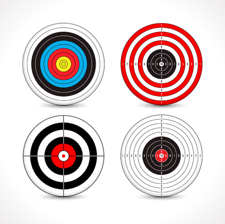 shooting target Vettoriali