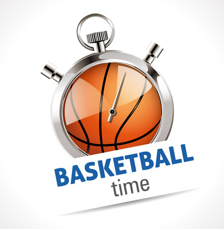 stopper: Stopwatch - Sports Basketball Time Illustration