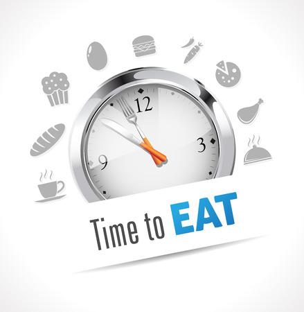 regimen: Stopwatch - Time to eat Illustration