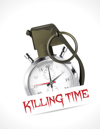 Stopwatch - Killing time concept