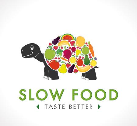 slow food: Logo - Slow food concept Illustration