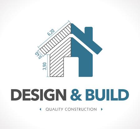 arquitecto: Logo - Diseño y construcción Vectores