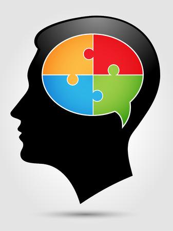 personas pensando: Puzzle - pensando cabezas