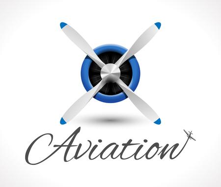 Aviation logo Illustration